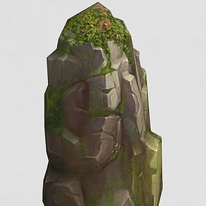 3d手绘写实<font class='myIsRed'>石头</font>模型模型