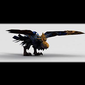 3d魔獸世界恐懼渡鴉坐騎模型