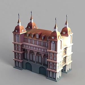 動漫城堡模型