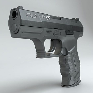 3d沃尔特P99手枪模型