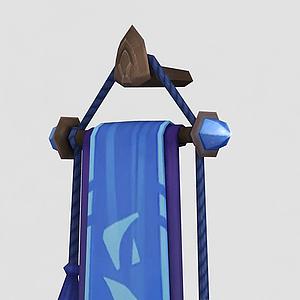 魔獸世界游戲旗幟模型