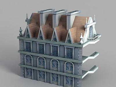 游戲城堡造型模型3d模型