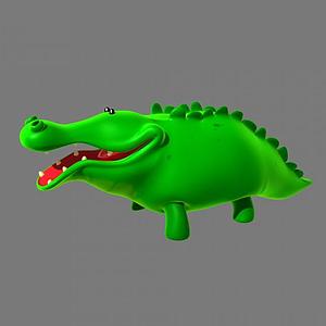 卡通鱷魚模型