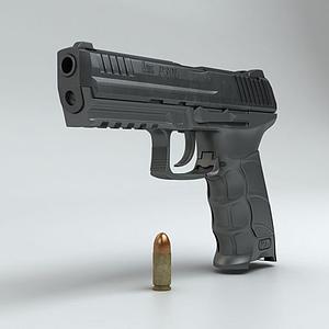 3dHK P30L手枪模型