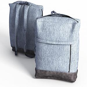 現代布藝背包模型