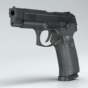 3dMP443乌鸦半自动手枪模型