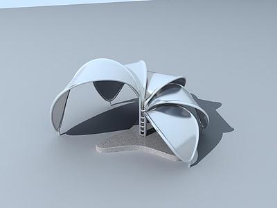 3d花瓣小品模型
