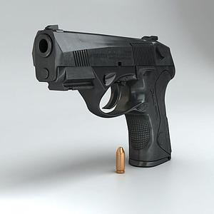 3d贝雷塔手枪模型