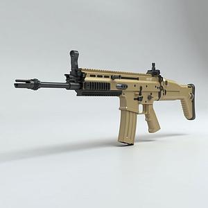 3dSCAR-L突擊步槍模型