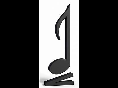 音符模型3d模型