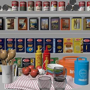 罐頭食物合集模型