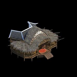 茅草屋模型