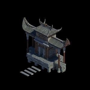 劍冢建筑場景模型