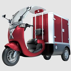 電動三輪車模型