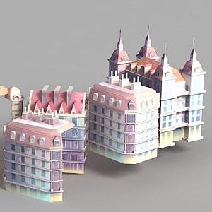 3d<font class='myIsRed'>动漫</font>城堡模型