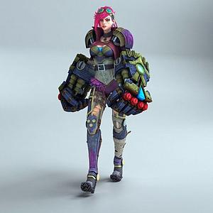 3d游戲模型_傳奇聯盟模型