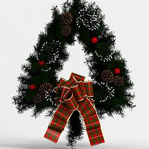 圣誕節花環模型