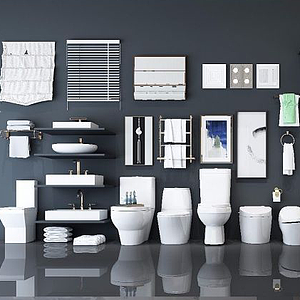衛生間衛浴擺件模型