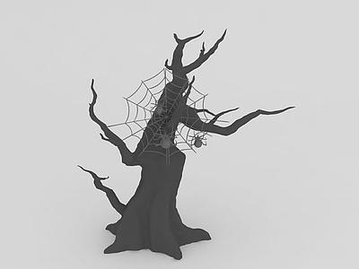萬圣節蜘蛛樹模型3d模型