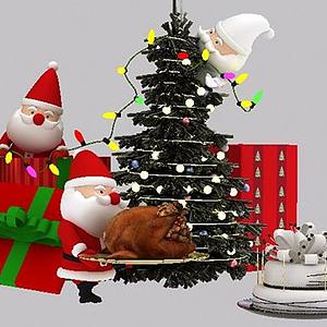 圣誕小彩燈模型