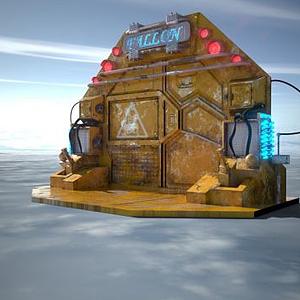 科幻风格时光传送门模型