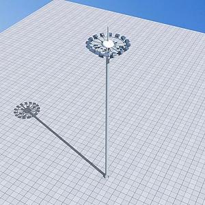 中干路燈模型
