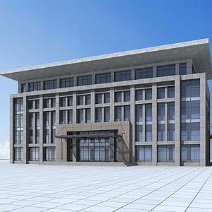 3d新中式辦公樓模型