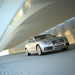3d汽车场景模型