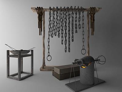 囚牢模型3d模型