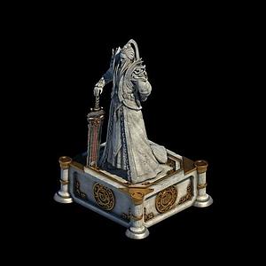 劍冢俠客雕像模型