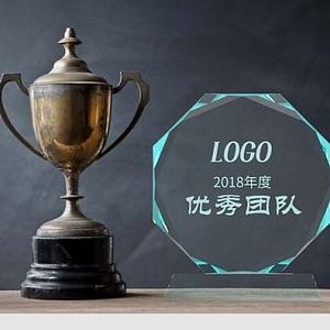 玻璃獎杯獎牌模型