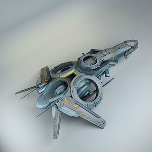 科幻3D飛船模型