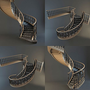 歐式樓梯模型