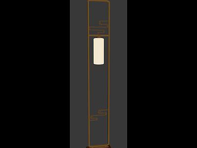 中式燈架3d模型