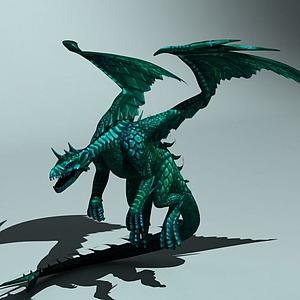 西方翼龍火龍怪物龍模型