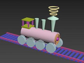 3d小<font class='myIsRed'>火車</font>免費模型