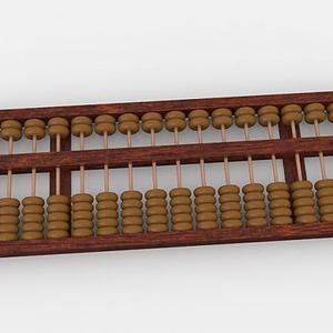 老式算盤模型