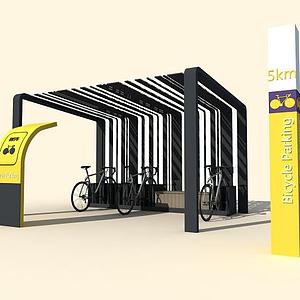 自行車棚模型