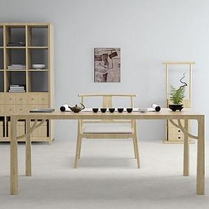 3d<font class='myIsRed'>日式</font>桌椅模型