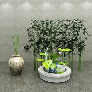 3d園藝小品模型