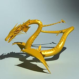 中國龍3D模型