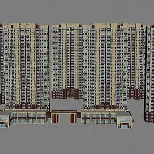 3d小區建筑模型