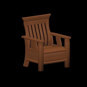 3d中式扶手椅模型