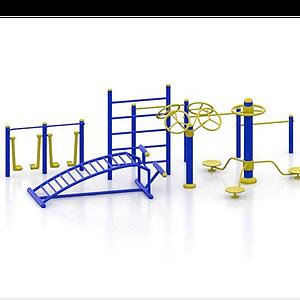 廣場健身器材模型