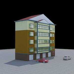 3d住宅帶車庫模型