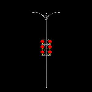 3d中国风路灯模型