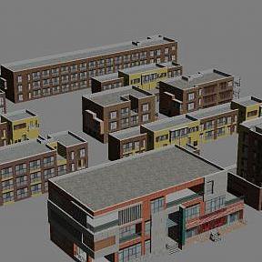 3d別墅小區模型