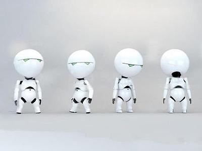 3d現代機器人模型
