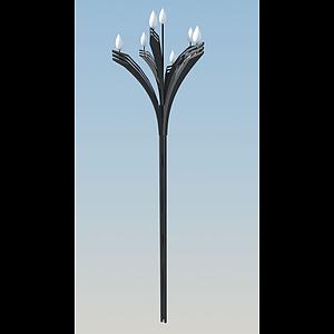 蓮花型路燈模型