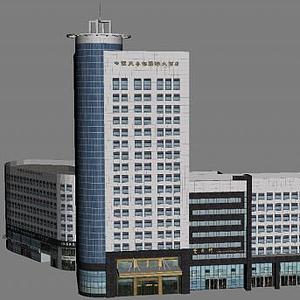 3d酒店建筑模型